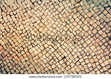 Old stone wall textures and backgrounds - stock photo