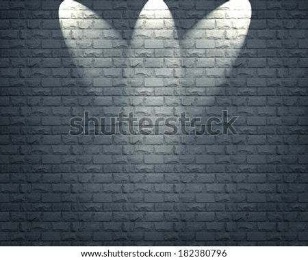 Old stone wall with lights  - stock photo