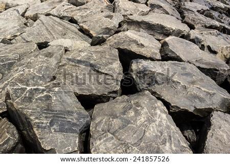 old stones background - stock photo