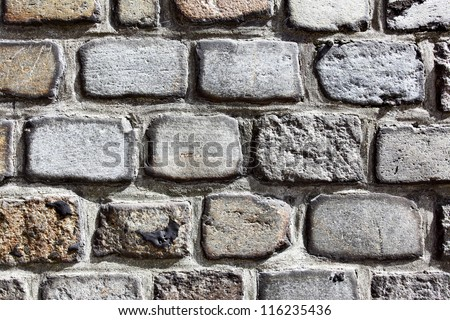Old stonework texture close up - stock photo