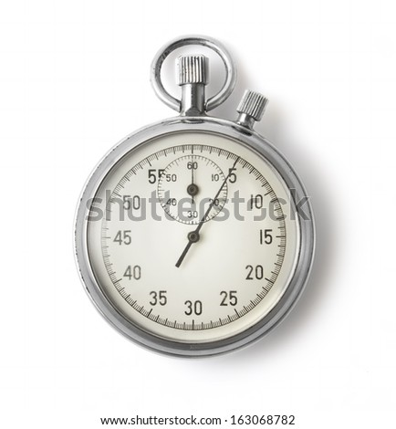 Old stopwatch on white background