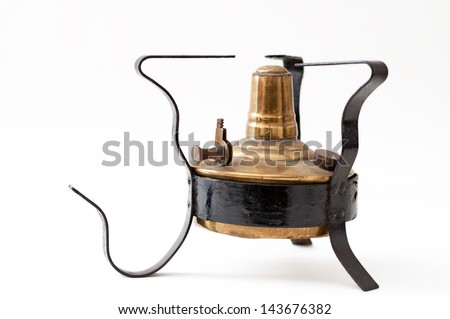 Old stove to use with alcohol - stock photo