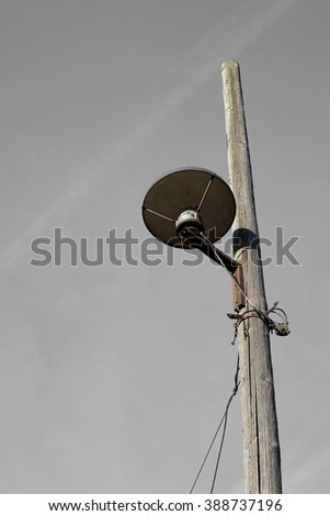 old street lamp on the roadside in Magdeburg in Germany - stock photo