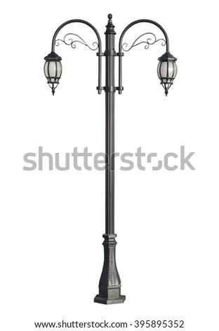 Old street lamppost - stock photo