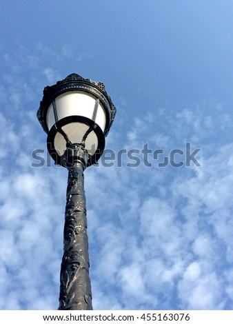 old street lantern - stock photo