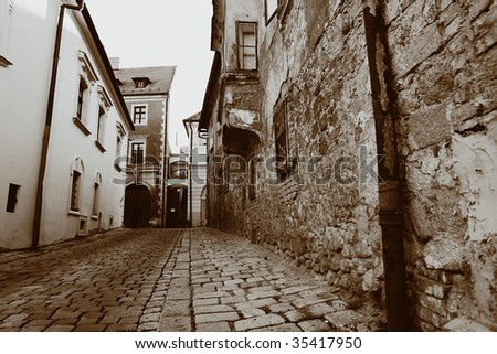 Old streets of Czech Republic - Europe