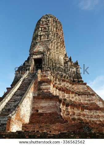 Old Stupa At Ayutthaya, Thailand