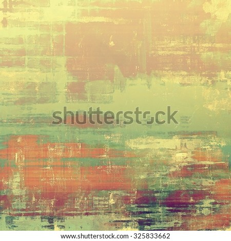 Old-style background, aging texture. With different color patterns: yellow (beige); brown; green; red (orange) - stock photo