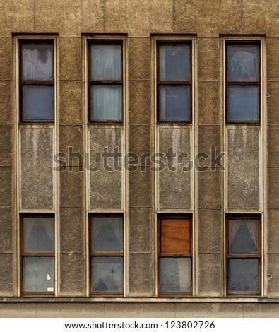 Old style building facade - stock photo