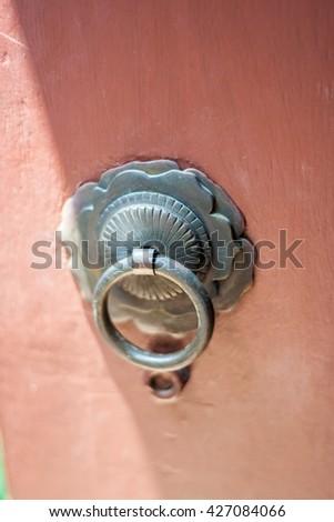 old style door handle  - stock photo