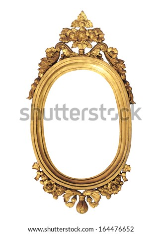 old style frame on white background
