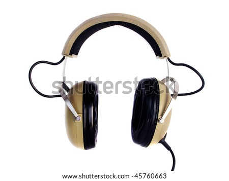 Old style hi fi headphones - stock photo