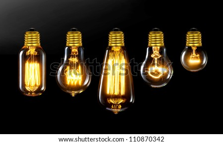 Incandescent Light Bulb Stock Images, Royalty-Free Images ...:old style Incandescent bulbs,Lighting
