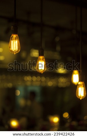 old style Incandescent bulbs - stock photo