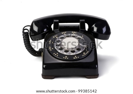 Old Style Phone. - stock photo