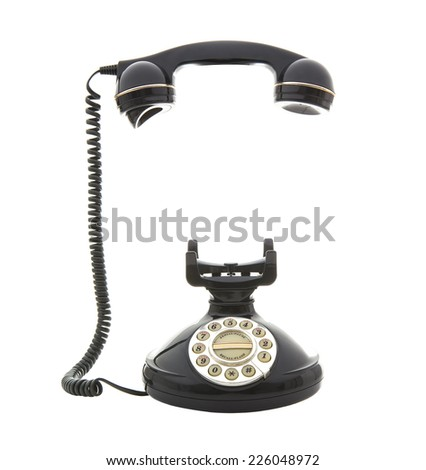 Old Style phone on a White Background - stock photo