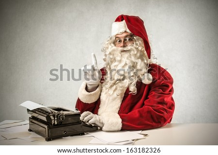 Old Style Santa - stock photo