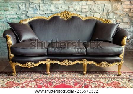 old style sofa - stock photo