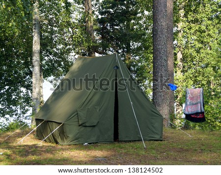 Old style tent in the nothern forest & Old Tent Stock Images Royalty-Free Images u0026 Vectors | Shutterstock