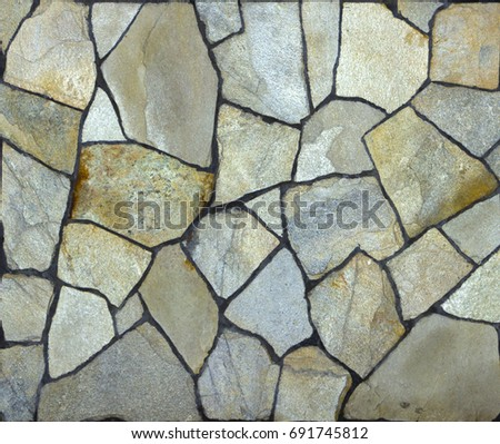 old style vintage concrete cracked stone wall background close up
