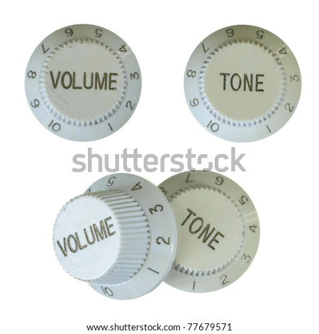 Old style volume and tone on a white background. - stock photo