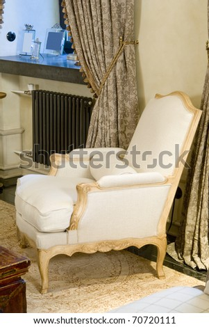 Old Styled armchair - stock photo