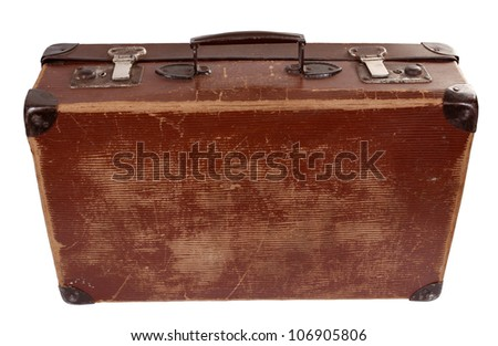 Old suitcase - stock photo