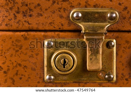Old suitcase clasp