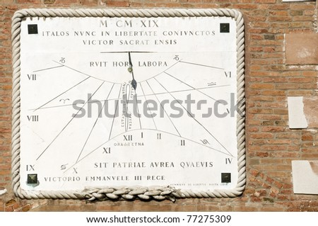 Old sundial - stock photo