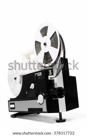 Old super 8 projector  - stock photo