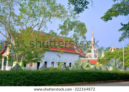 Old temple called Wat Chaiya, southern Thailand.