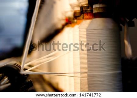 Old Textile Machine - stock photo