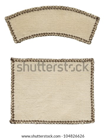 Old textile tag - stock photo