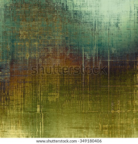 Old texture as abstract grunge background. With different color patterns: yellow (beige); brown; blue; green - stock photo