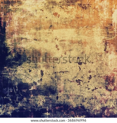 Old texture with delicate abstract pattern as grunge background. With different color patterns: yellow (beige); brown; blue; purple (violet) - stock photo