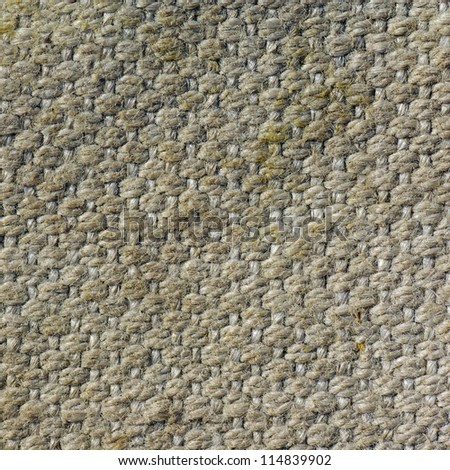 old textured canvas background. worn tattered cloth - stock photo