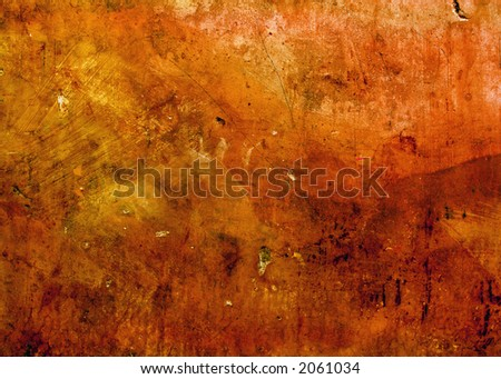 old textured wall background ready for design work - stock photo