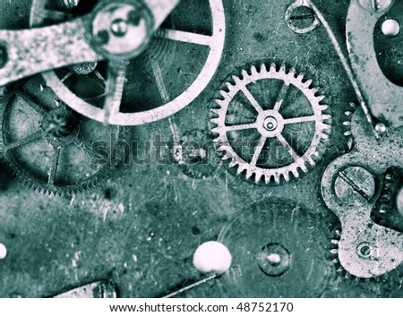 old time mechanism in grunge colors - stock photo