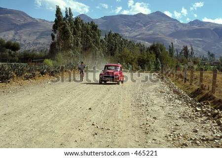 Old Timer in Cajamarca - Peru - stock photo