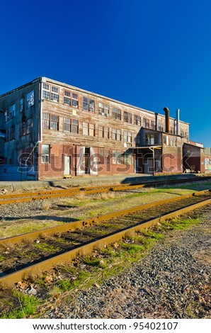 Old times wooden warehouse (Industrial building) in Vancouver, Canada - stock photo