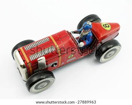 old tin retro car - stock photo