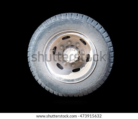 Old Tires Isolated On a black background