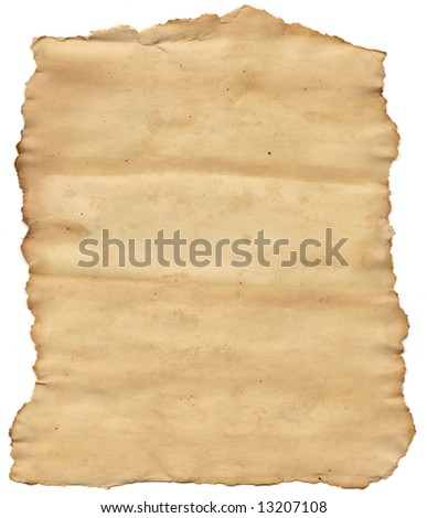 Old torn paper - stock photo