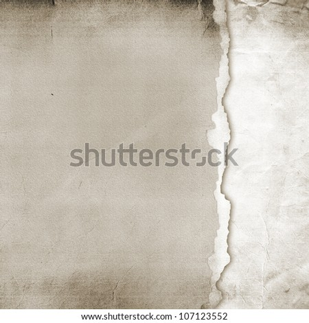 Old Torn Paper Background. Texture - stock photo