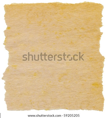 Old torn paper isolated on a white background. - stock photo