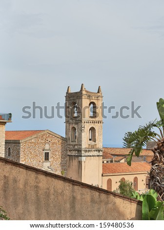Old Tower in  Sicily, Southern Italy. - stock photo