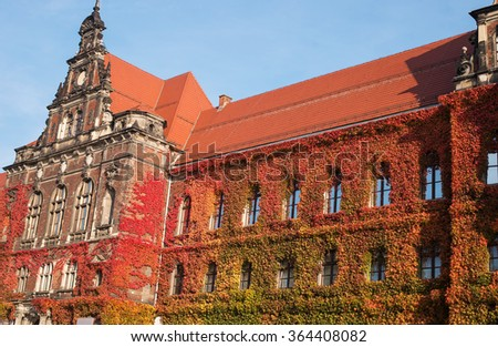 Old Town architecture in Wroclaw, Poland