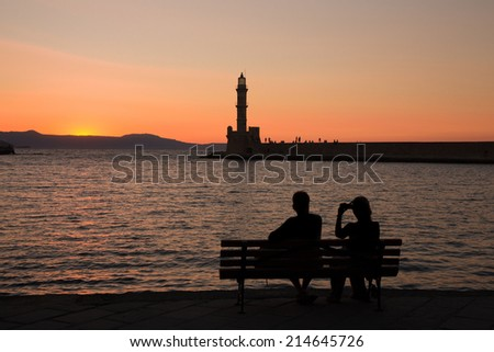 Old Town Chania in Crete, Greece - stock photo
