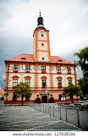 Old Town Hall in Susice, Czech republic, European Union.