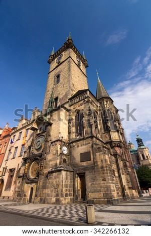 Old Town Hall with Astronomical Clock on Old Town Square